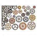 661184 Thinlits Die Set 22PK - Gearhead by Tim Holtz